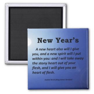 New Year's Ezekiel 36-26 Magnets