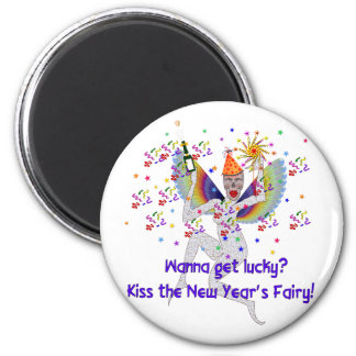 New Year's Fairy 2 Inch Round Magnet