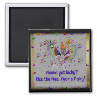 New Year's Fairy 2 Inch Square Magnet