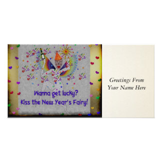 New Year's Fairy Photo Card Template