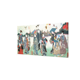 New Year's festival, Canvas Print