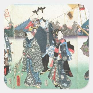 New Year's festival, Square Sticker