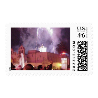 New Years Fireworks Postage Stamps