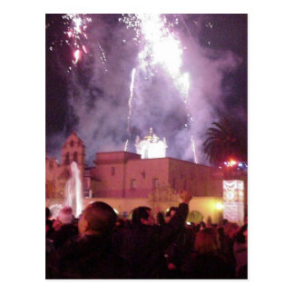 New Years Fireworks Postcard