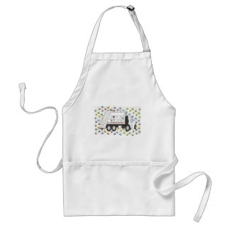 New Years Garbage Truck January Adult Apron