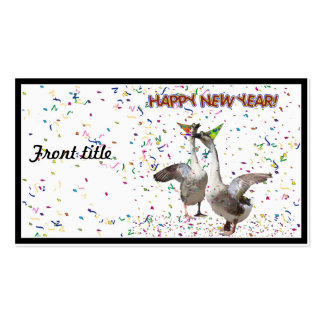 New Year's Geese Double-Sided Standard Business Cards (Pack Of 100)