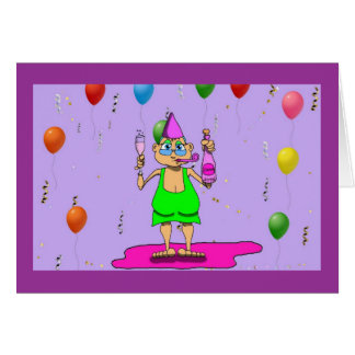 New Years Gladys Card