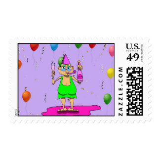 New Years Gladys Postage Stamp