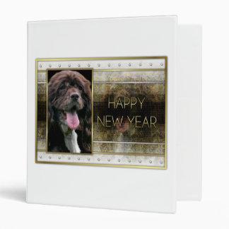 New Years - Golden Elegance - Cocker Spaniel Vinyl Binder