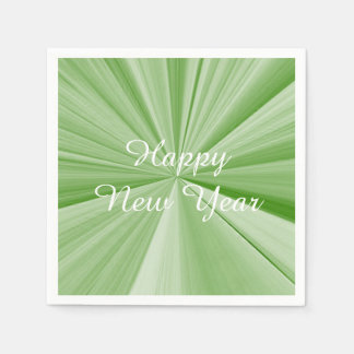 New Years Green Paper Napkins by Janz