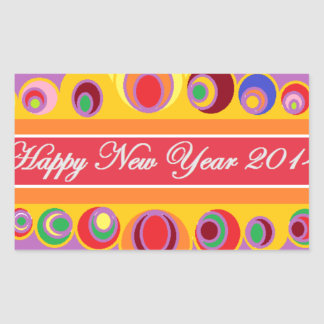 New Year's Greeting Rectangle Sticker