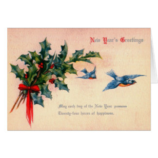 New Year's Greeting Vintage Greeting Card
