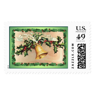 NEW YEARS GREETINGS by SHARON SHARPE Postage