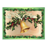 NEW YEARS GREETINGS & HOLLY by SHARON SHARPE Post Cards