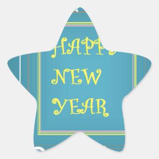 New Year's Greetings Star Sticker