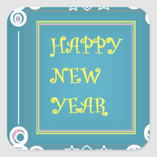 New Year's Greetings Square Sticker