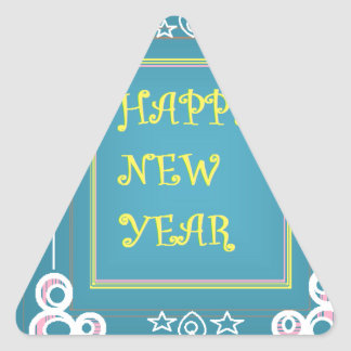New Year's Greetings Triangle Sticker