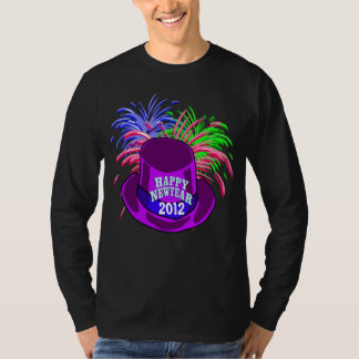 New Year's Hat And Fire Works Shirt