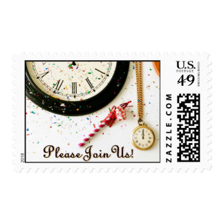 New Year's invitation postage