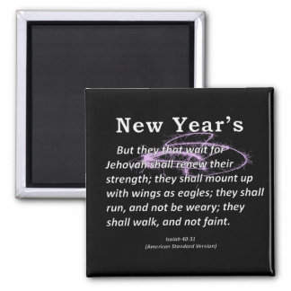 New Year's Isaiah 40-31 Magnet