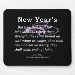 New Year's Isaiah 40-31 Mouse Pad