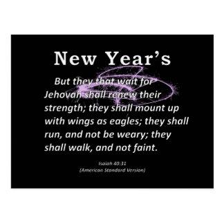 New Year's Isaiah 40-31 Postcard