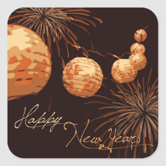 New Year's Lanterns Sticker