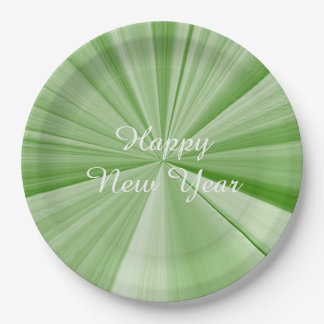 New Years Lime Paper Plates by Janz 9 inch