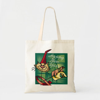 New Year's Mask Budget Tote Bag