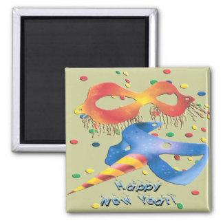 New Year's Masks Fridge Magnet