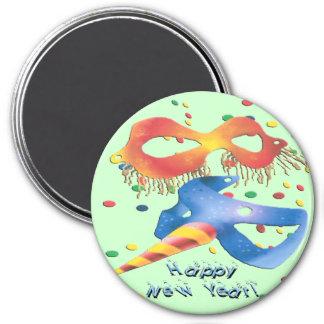 New Year's Masks Refrigerator Magnet