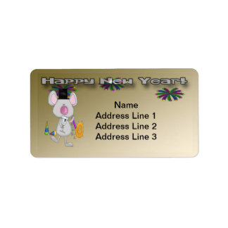 New Year's Mouse Address Labels