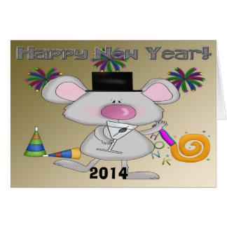 New Year's Mouse Greeting Card