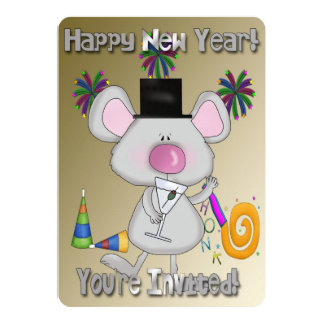 New Year's Mouse New Year's Party Invitations