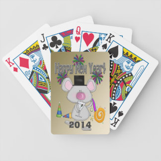 New Year's Mouse Playing Cards