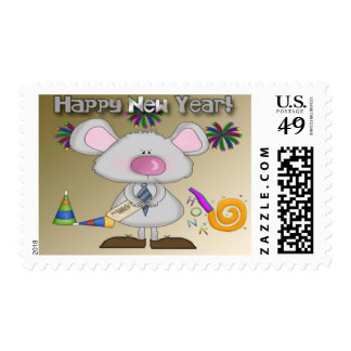 New Year's Mouse Postage Stamps