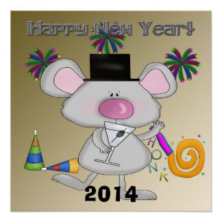 """New Year's Mouse Poster 20""""x20"""" Perfect Poster"""
