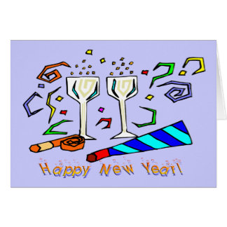 New Year's Noise Makers Greeting Cards