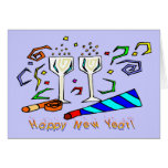 New Year's Noise Makers Greeting Card