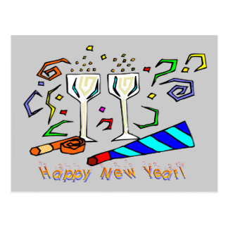 New Year's Noise Makers Postcard