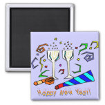 New Year's Noise Makers Refrigerator Magnets