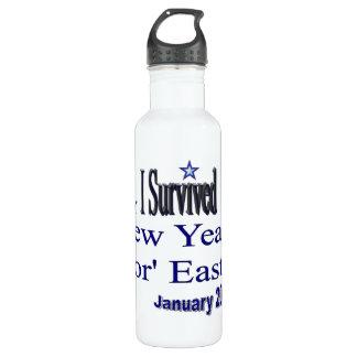 New Years NorEaster Survivor 24oz Water Bottle