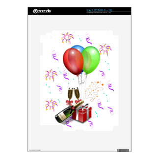New Years Party Balloons iPad 2 Decal