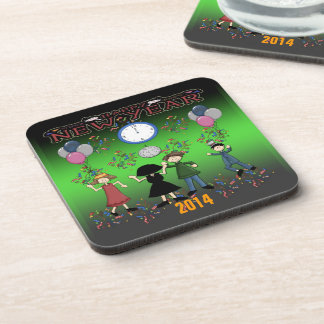 New Year's Party Drink Coaster Set (6)