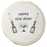New Years Party Fun Sugar Cookie
