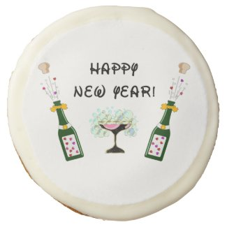 Happy New Year Personalized Cookies