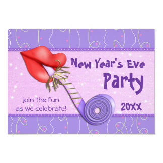 New Years Party Horn - Customize Announcement