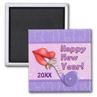 New Years Party Horn - Customize Magnet