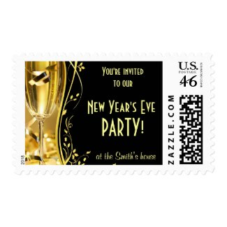 New Year's Party Invitation Postage stamp