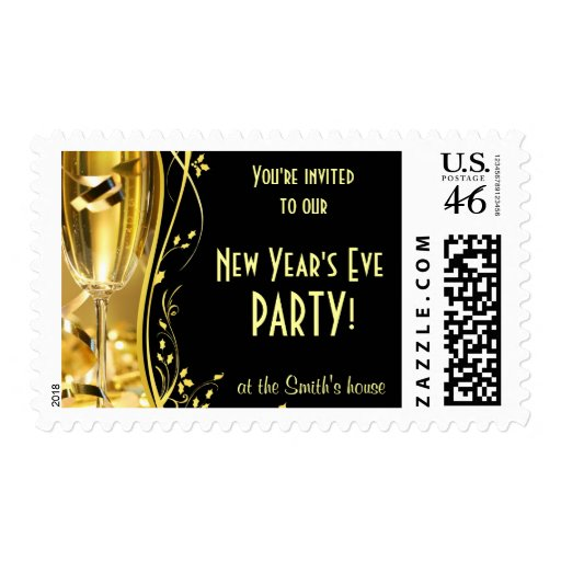 New Year's Party Invitation Postage